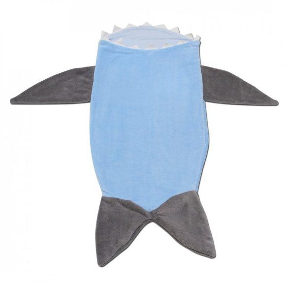 Világoskék-szürke cápás lábzsák