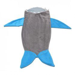 Szürke-kék cápás lábzsák
