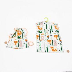 Szürke erdei állatos oviszsák és tornazsák szettben