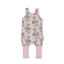 Rózsaszín őzikés átmeneti tipegő zsák 1-es méret 12-18 hó