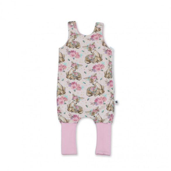 Rózsaszín őzikés átmeneti tipegő zsák 3-as méret 3-5 év