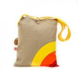 Rainbow drapp-sárga-narancs-piros táska