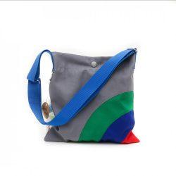 Rainbow szürke-zöld-kék-piros táska