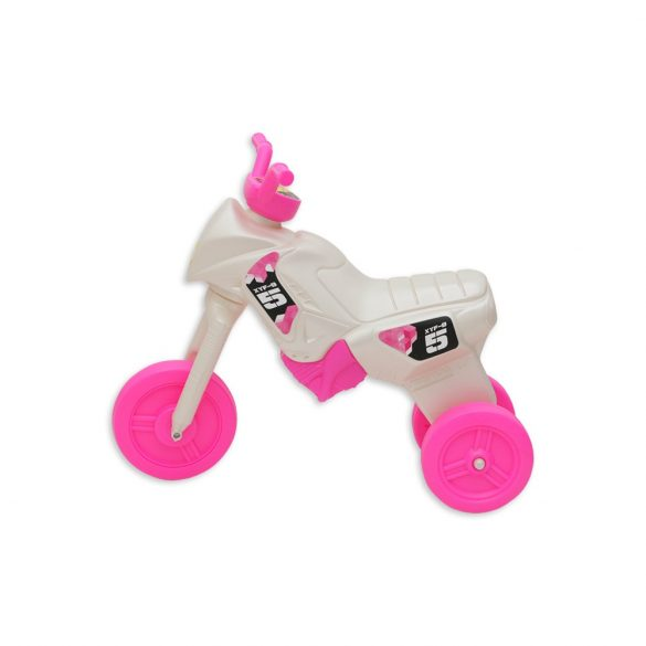 Gyöngyházfehér-pink kismotor