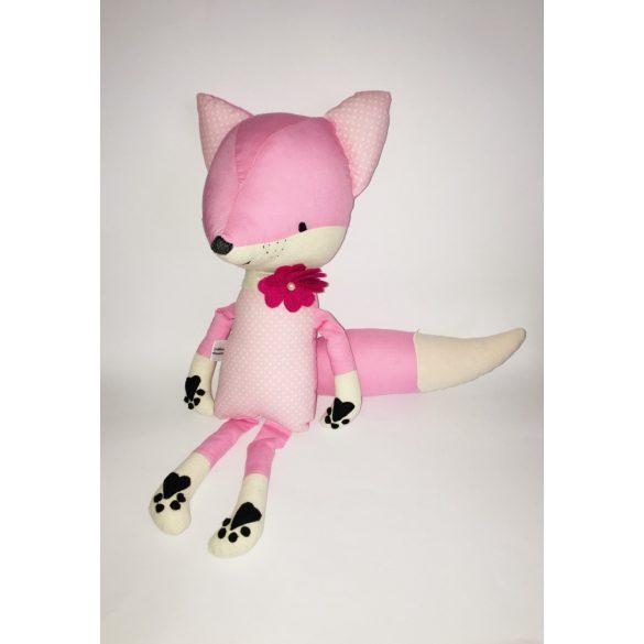 Rózsaszín róka pink virágos nyakpánttal