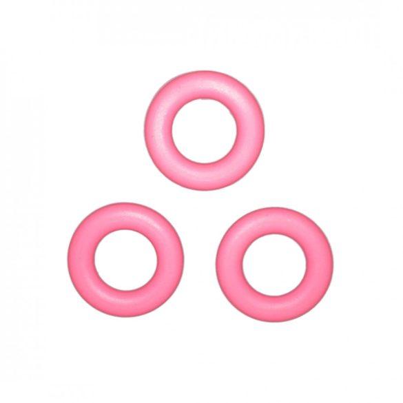 Rózsaszín szilikongyűrű