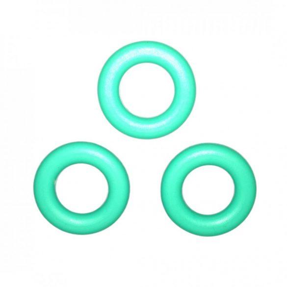 Türkizzöld szilikongyűrű