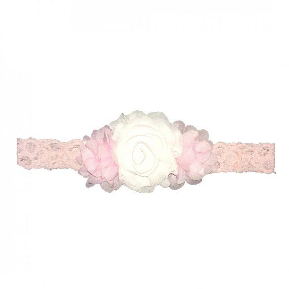 Fehér-rózsaszín hajpánt