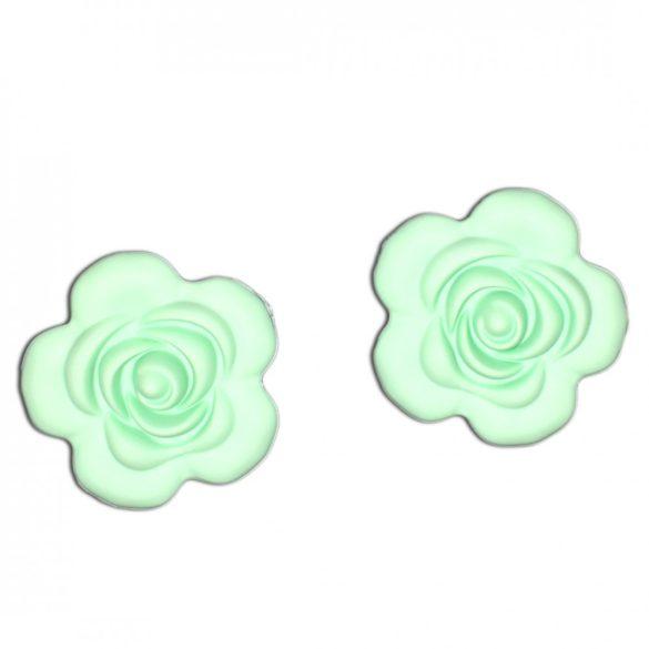 Halványzöld szilikonvirág
