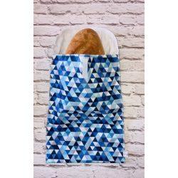 Kenyérzsák kék háromszöges